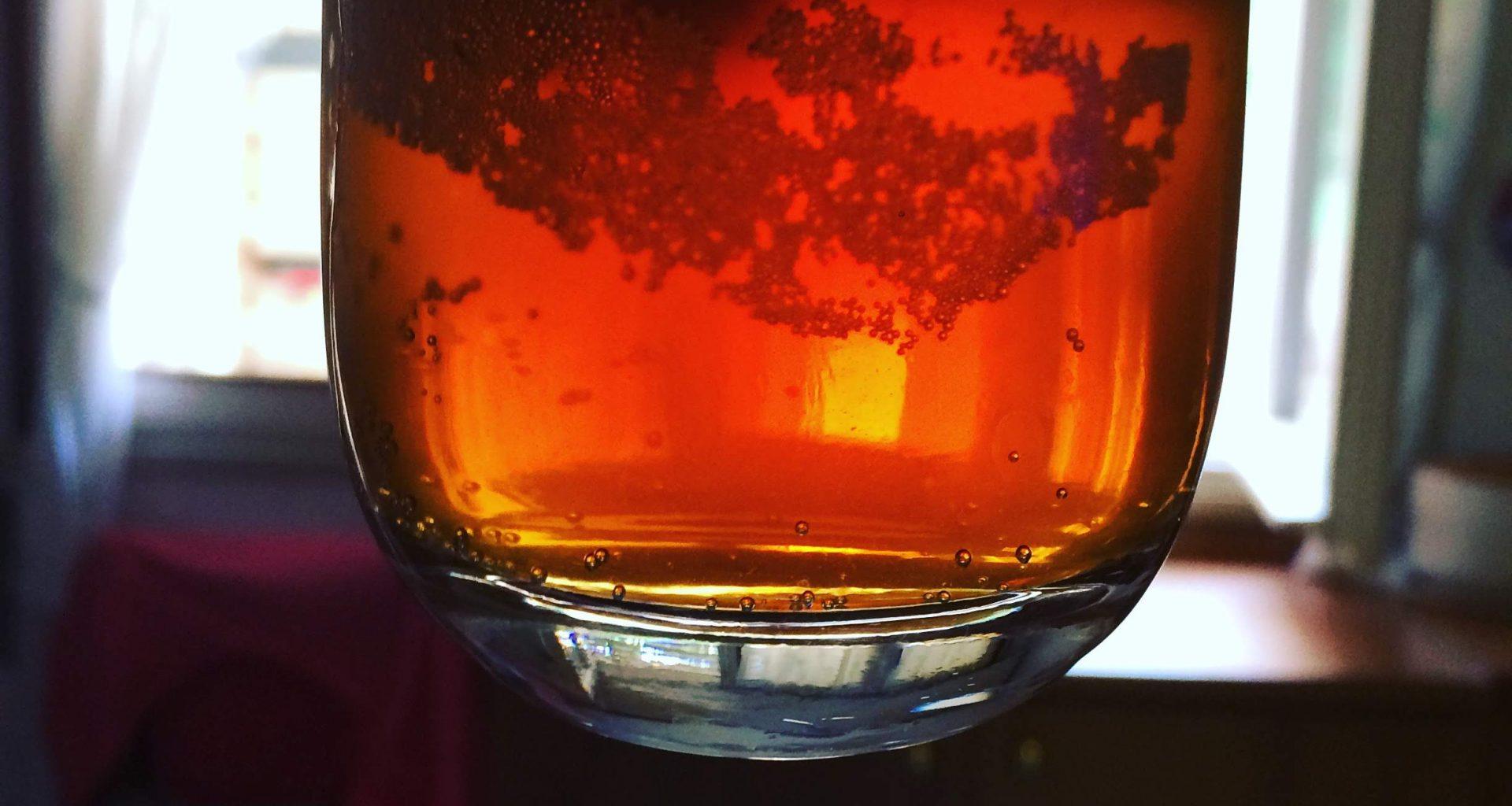 Bicchiere di Bitter in trasparenza